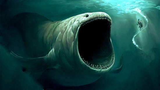 Морское чудовище с разинутой пастью