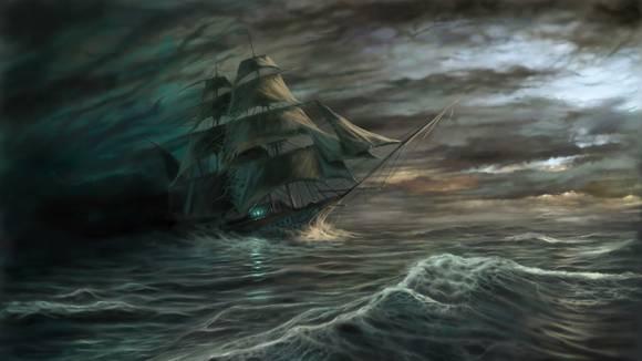 Летучий Голландец бороздит океан
