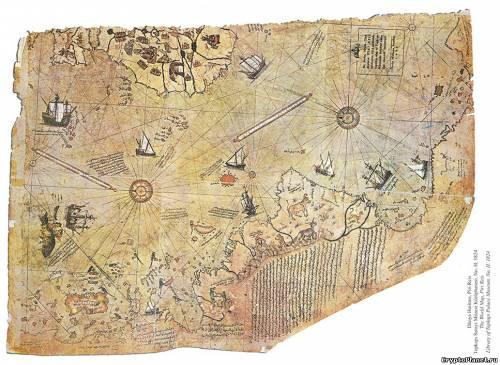 Уцелевшая часть карты Пири Рейса, 1513 год