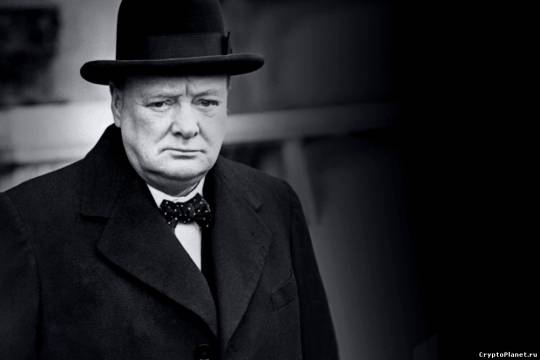 Уинстон Черчилль в шляпе