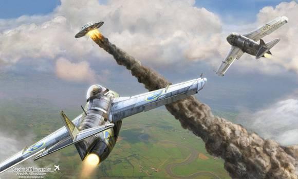 Истребители преследуют НЛО