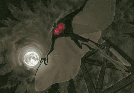 Человек-мотылёк и Луна