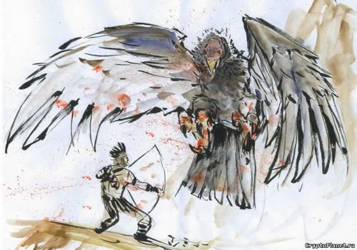 Громовая птица напала на индейца