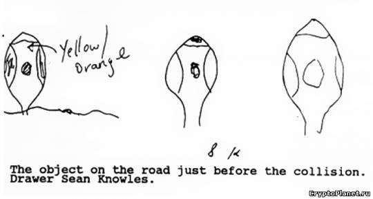 Объект на дороге. Рисунок Шона