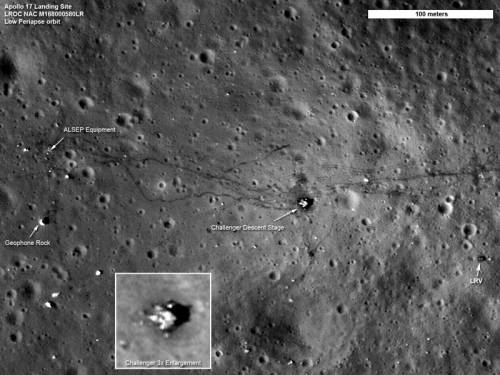 LRO сфотографировал место посадки американских миссий