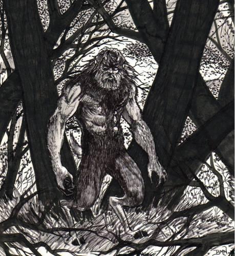 Козлочеловек, зарисованный по рассказу очевидца