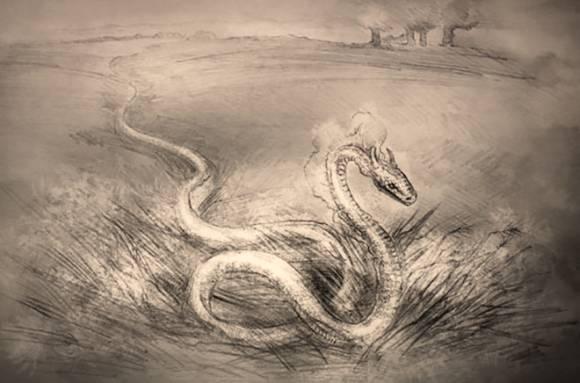Рогатая змеюка в поле