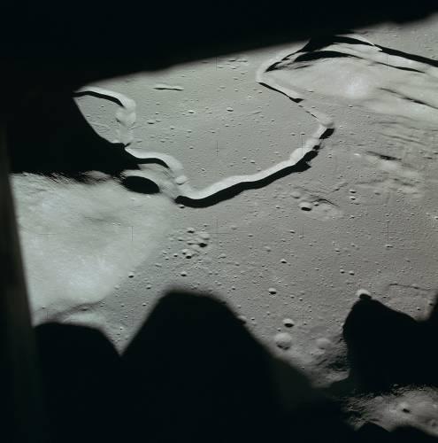 Фотография района посадки, сделанная астронавтами Аполлона-15