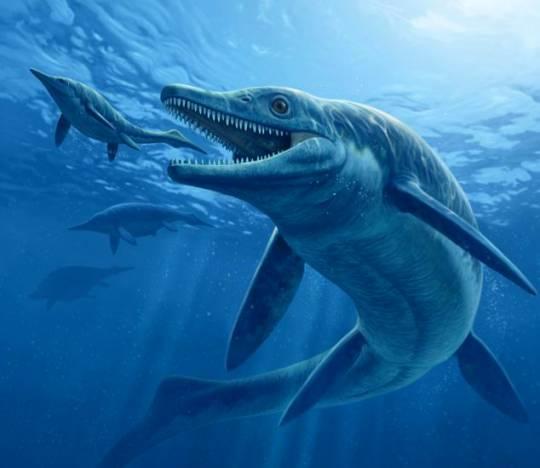 Первобытный кит на охоте