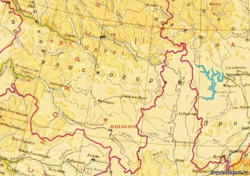 Карта тунгусского бассейна