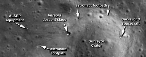 Цепочки следов астронавтов